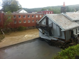 Dot's Restaurant in Wilmington, VT the day Hurricane Irene hit.