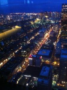 Boylston Street, as seen from the Prudential Tower, December 2011