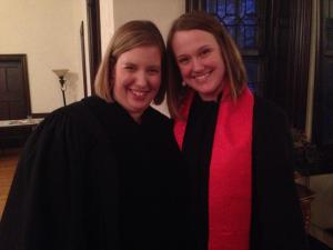 The Rev. Samantha Larason Haub and Heidi Carrington Heath right after Sam's ordination.
