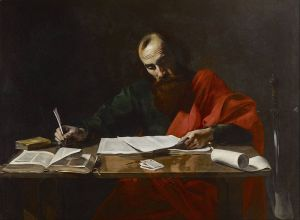 """Paul Writing His Epistles"""