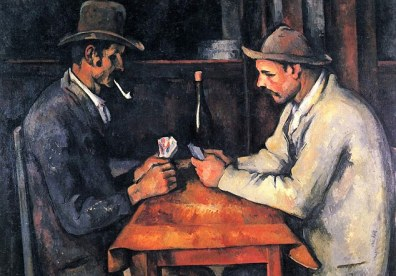 Paul Cezanne painting -  'Zwei Kartenspieler' (Two Card Players)